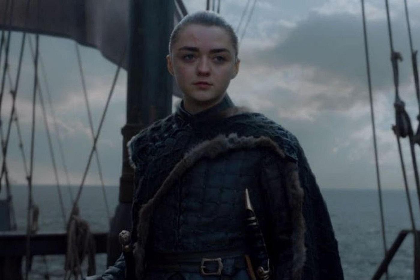Arya Stark à la fin de Game of Thrones