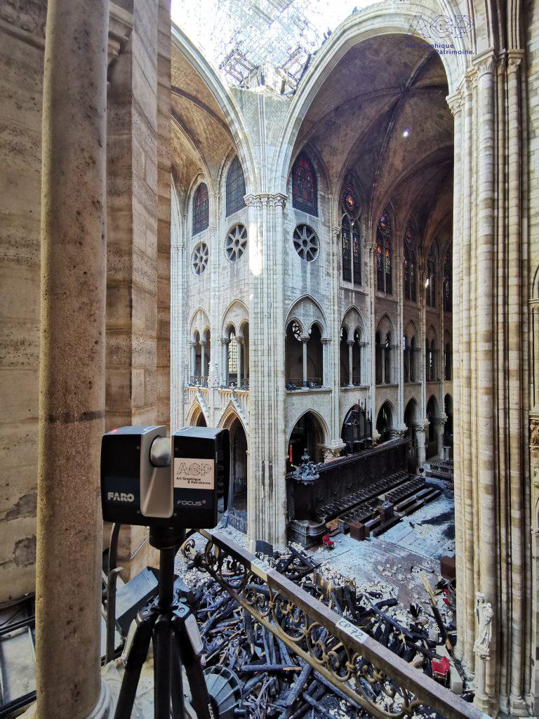 Notre Dame de Paris après l'incendie