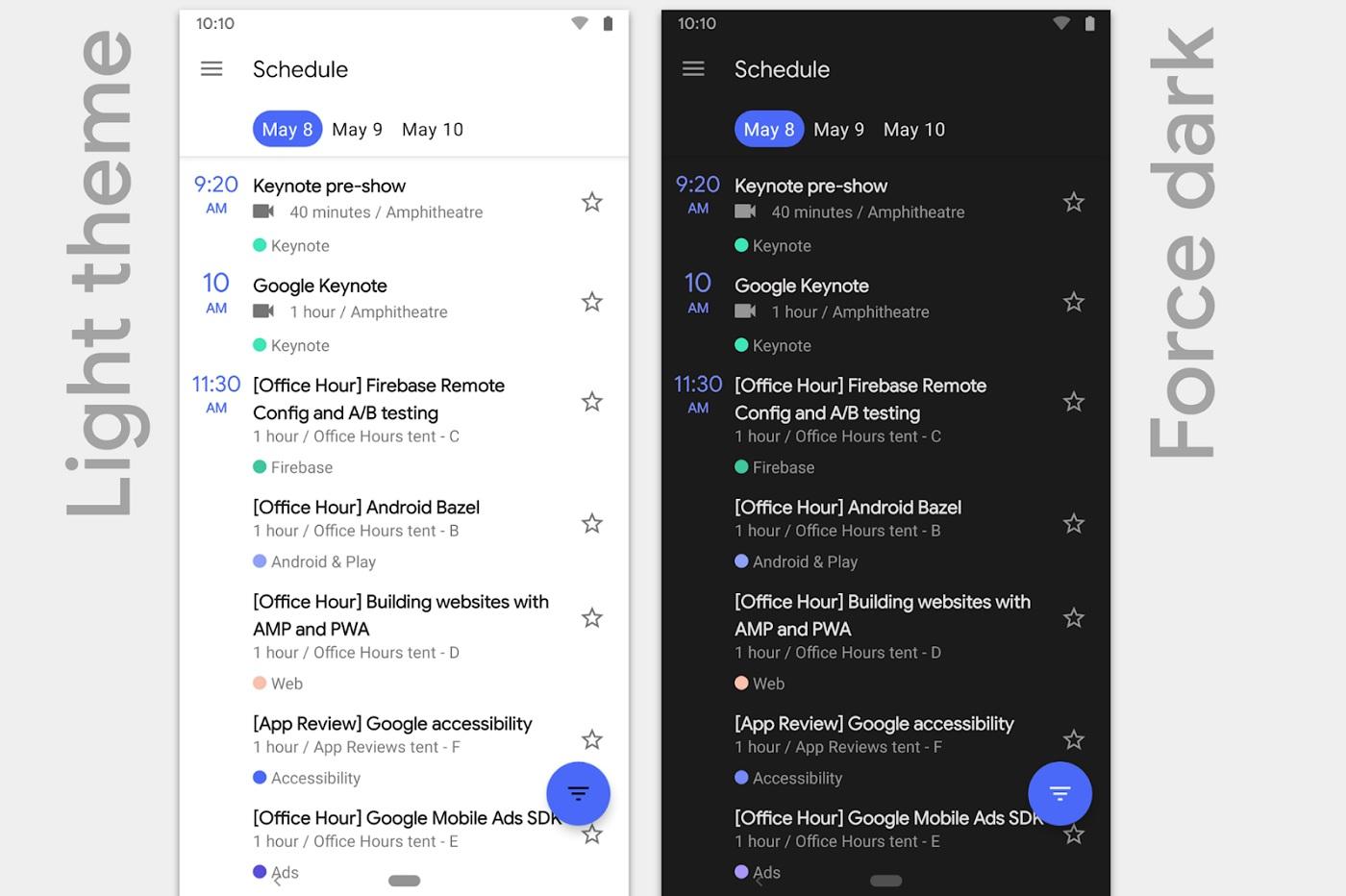 Le Dark Theme d'Android Q