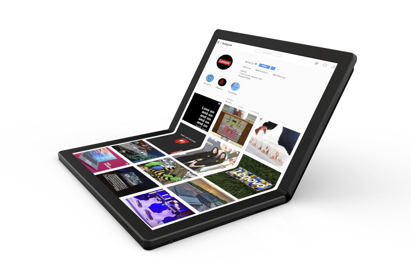 Lenovo présente son tout premier prototype d'ordinateur pliable