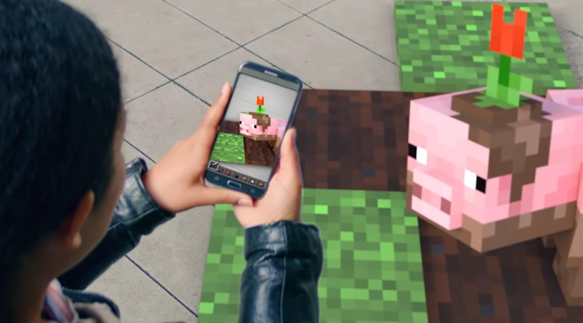 Un jeu en réalité augmentée se tease, un Pokémon Go like — Minecraft
