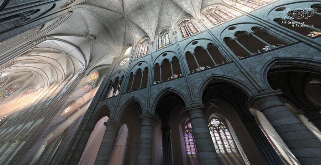 Modélisation de la voûte de la Nef de Notre Dame de Paris