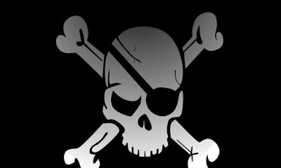 Un drapeau pirate , piratage