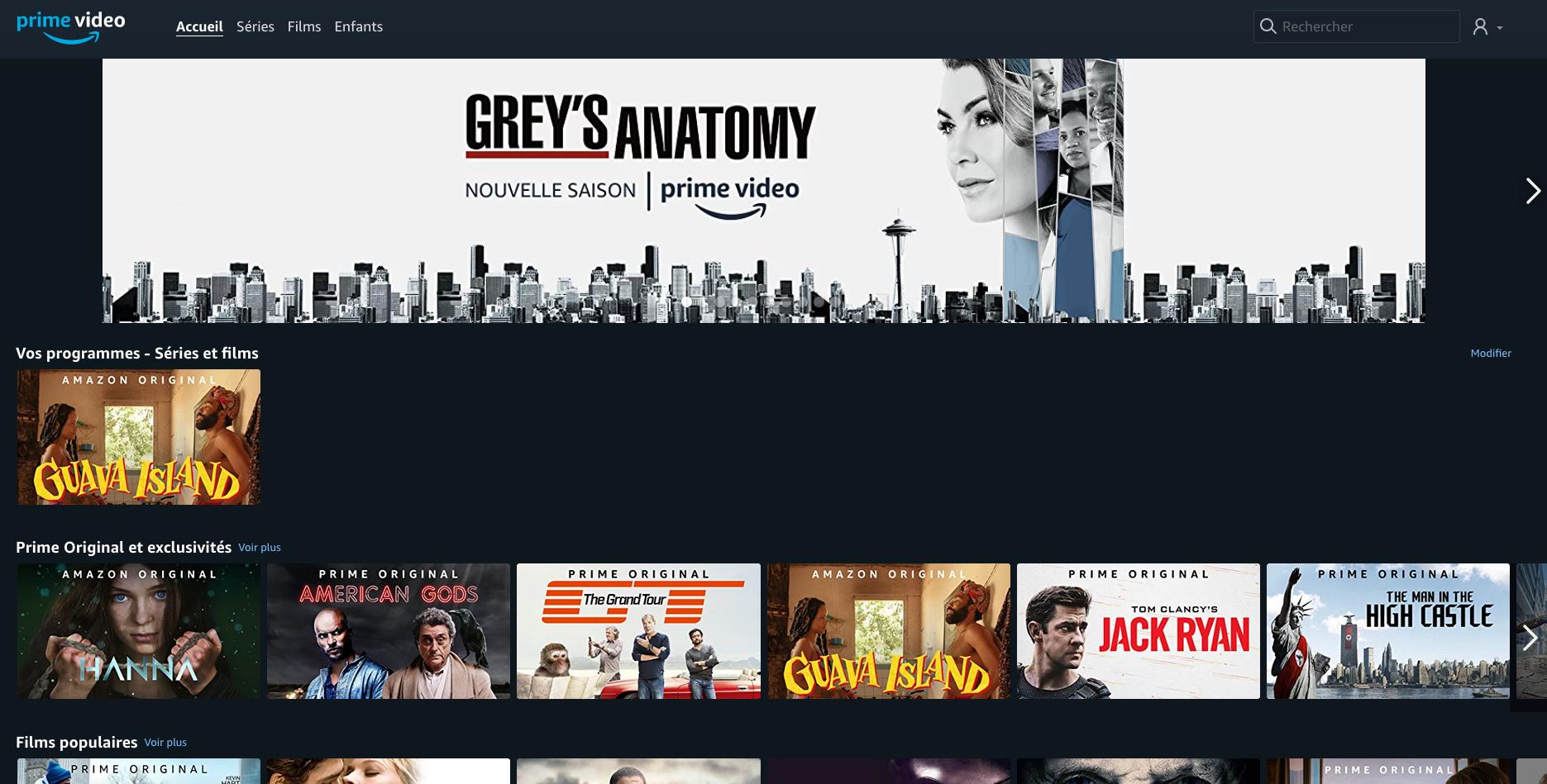 Amazon Prime Video desktop