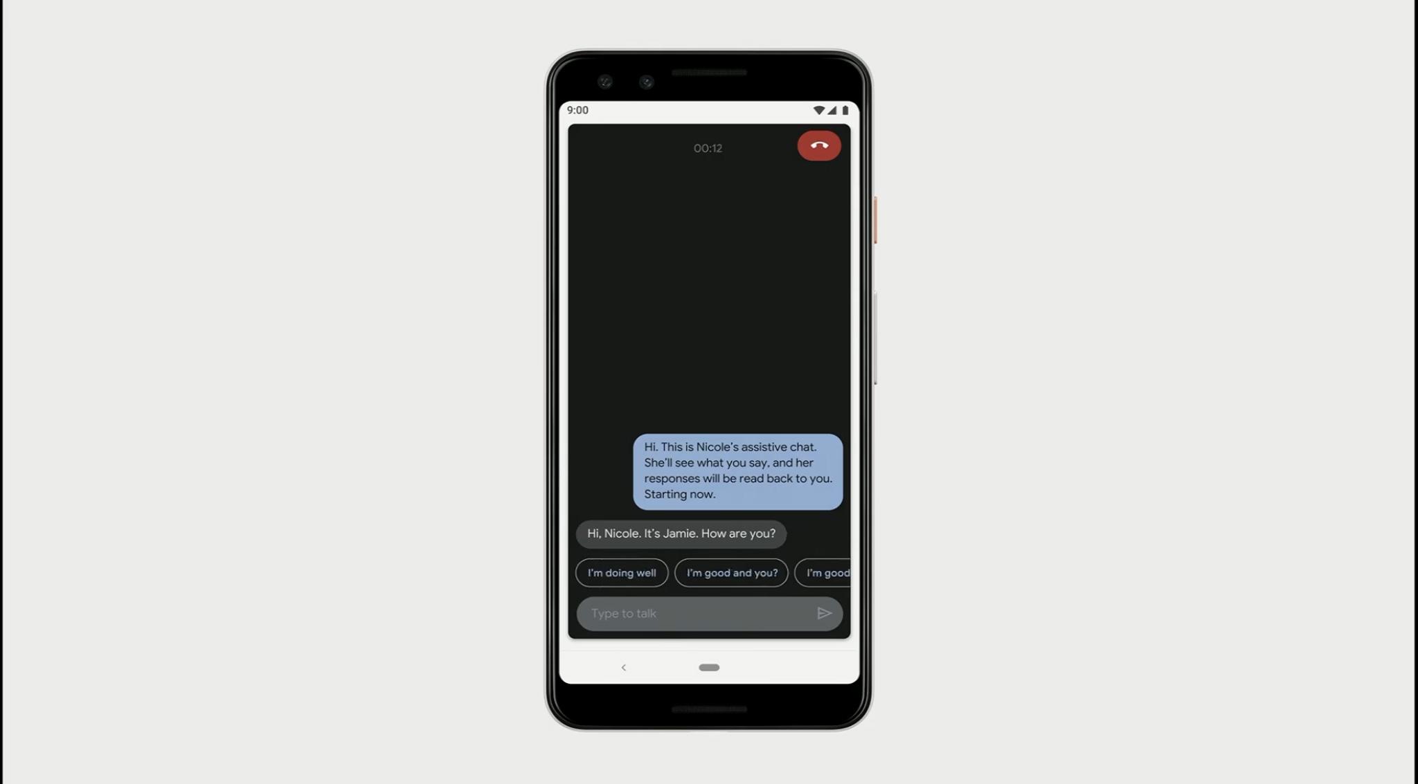 Google I/O live caption écrit