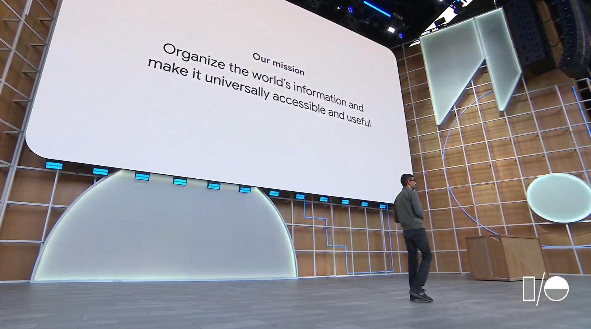 Google I/O Sundar pichai mission