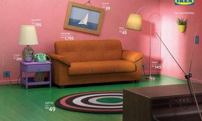 IKEA s'inspire des séries pour son salon et reproduit celui des Simpson