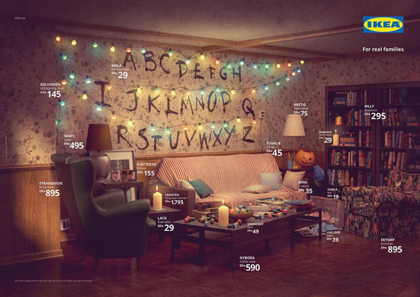 IKEA s'inspire des séries pour son salon et reproduit celui de Stranger Things