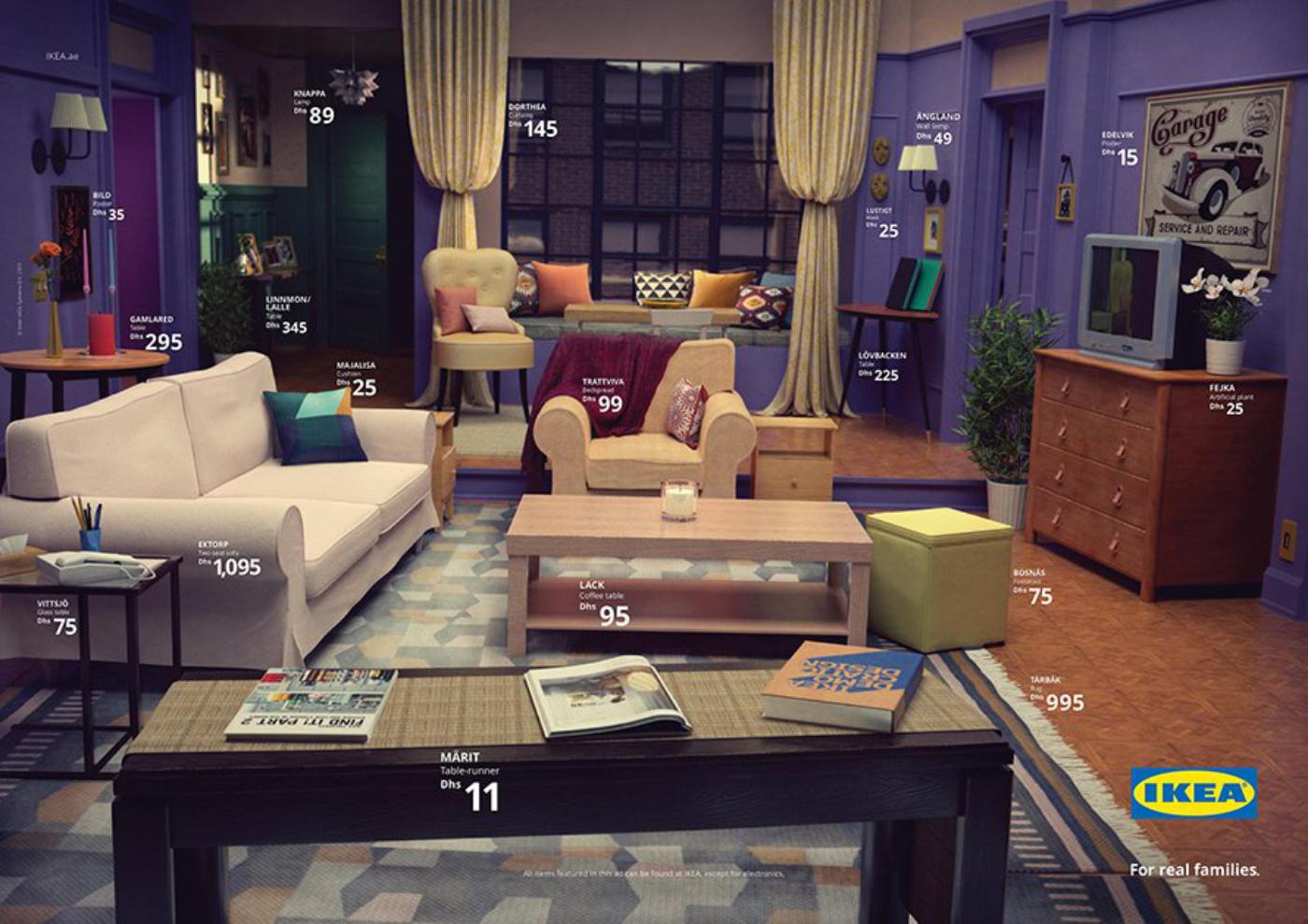IKEA s'inspire des séries pour son salon et reproduit celui de Friends