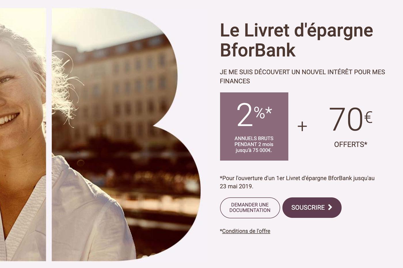 Livret épargne BforBank
