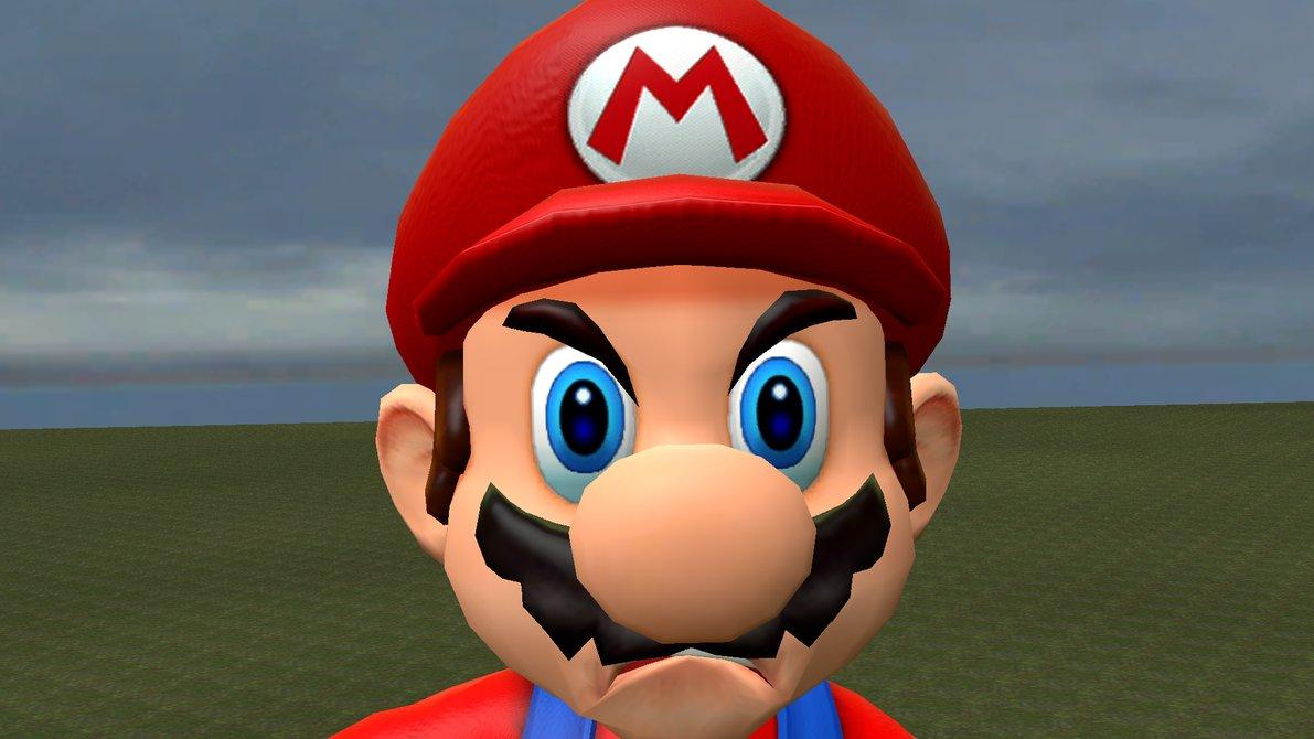 Mario en colère