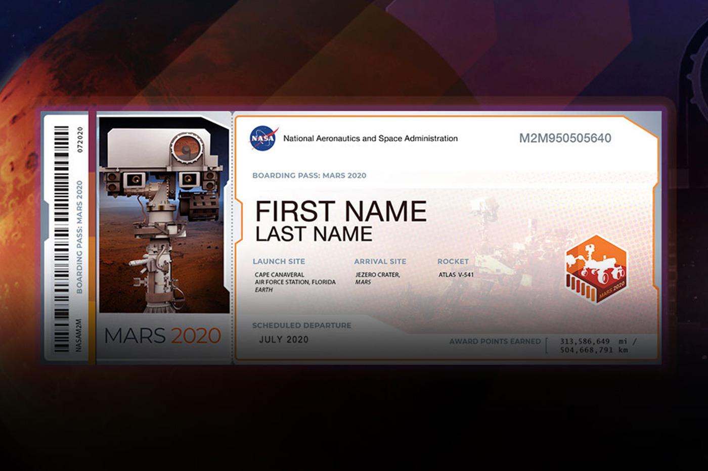 Vous pouvez envoyer votre nom sur Mars avec le prochain rover de la NASA