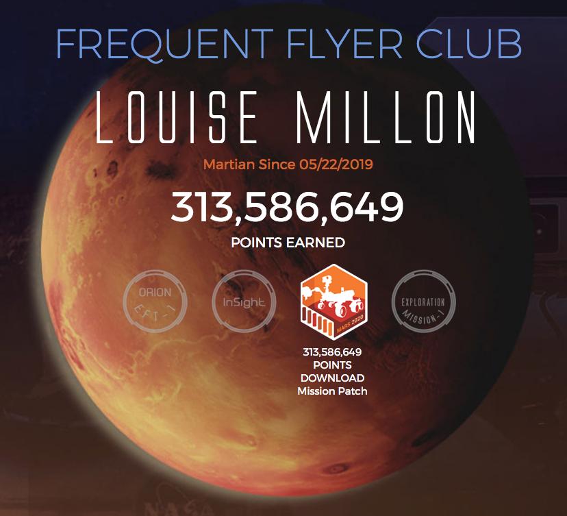 NASA points fidelité