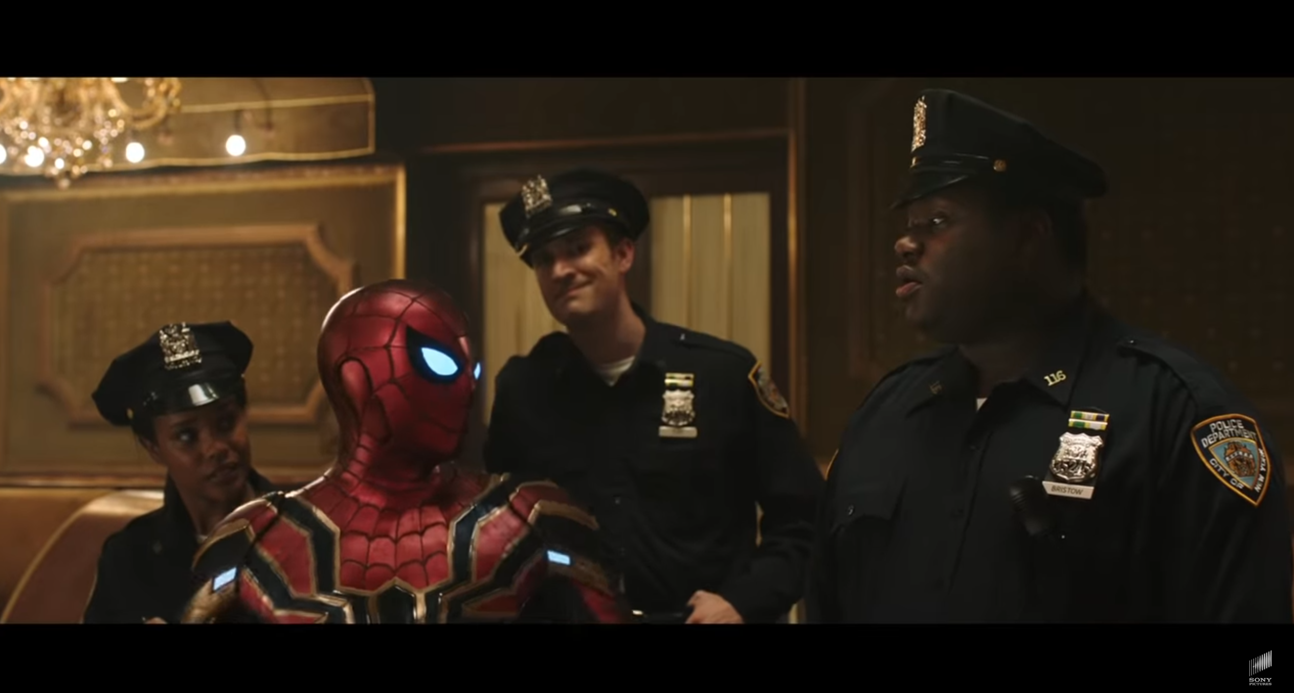 Spider-Man Far From Home policiers