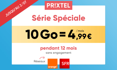 Forfait mobile Série Spéciale Prixtel 2 juillet