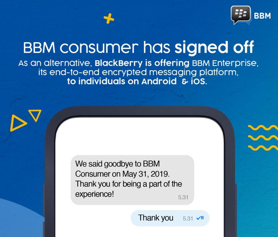 After AOL, MSN and Windows Live Messenger, BlackBerry