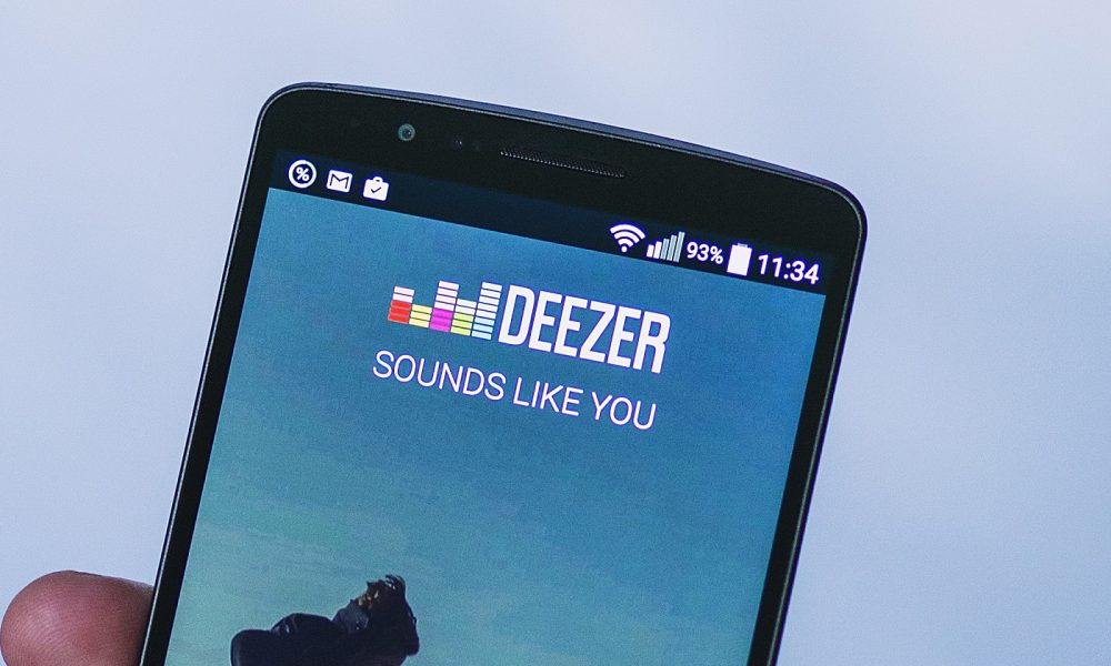 Deezer sur un smartphone Android