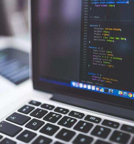 Du code CSS sur un laptop