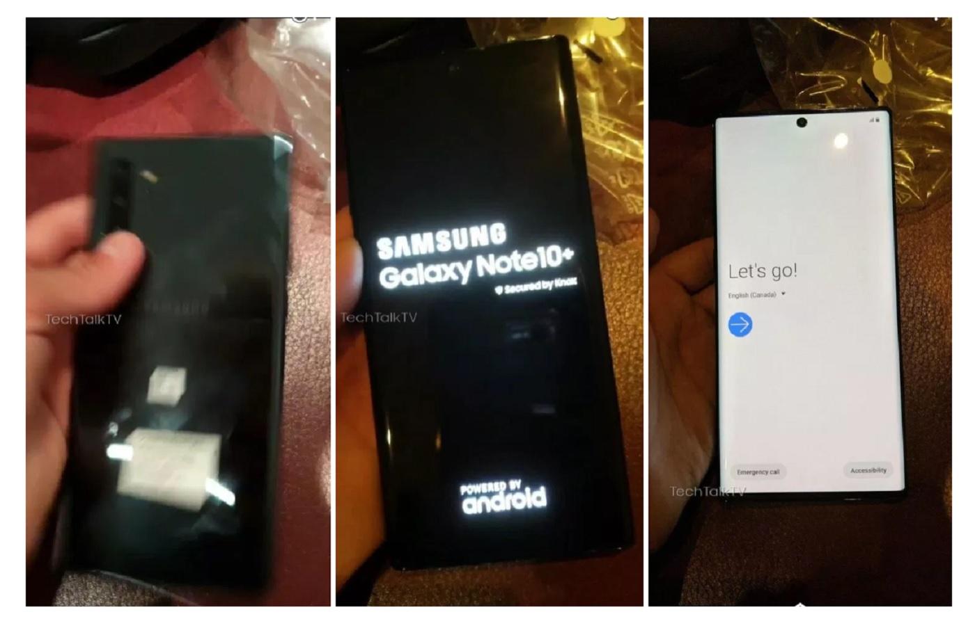 Fuite du Galaxy Note 10 Plus