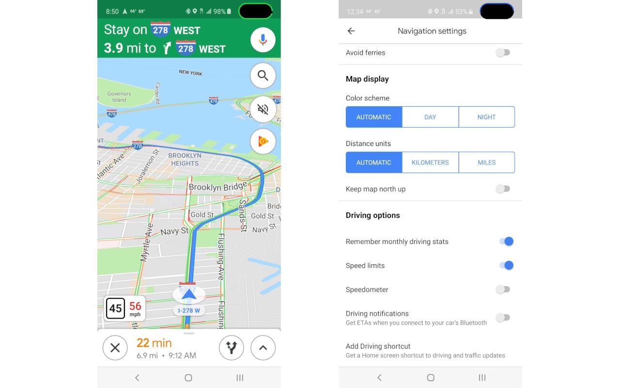Google Maps Compteur Vitesse