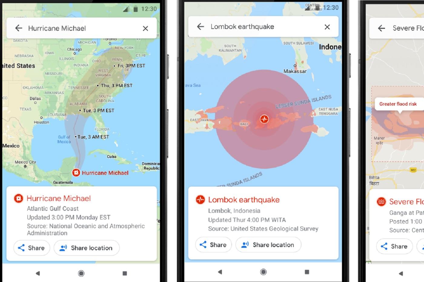 Google Maps et les alertes