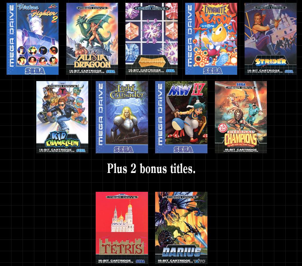 Mega Drive Mini liste jeux