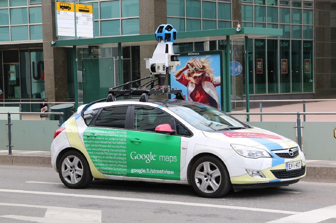 Une voiture Google Maps