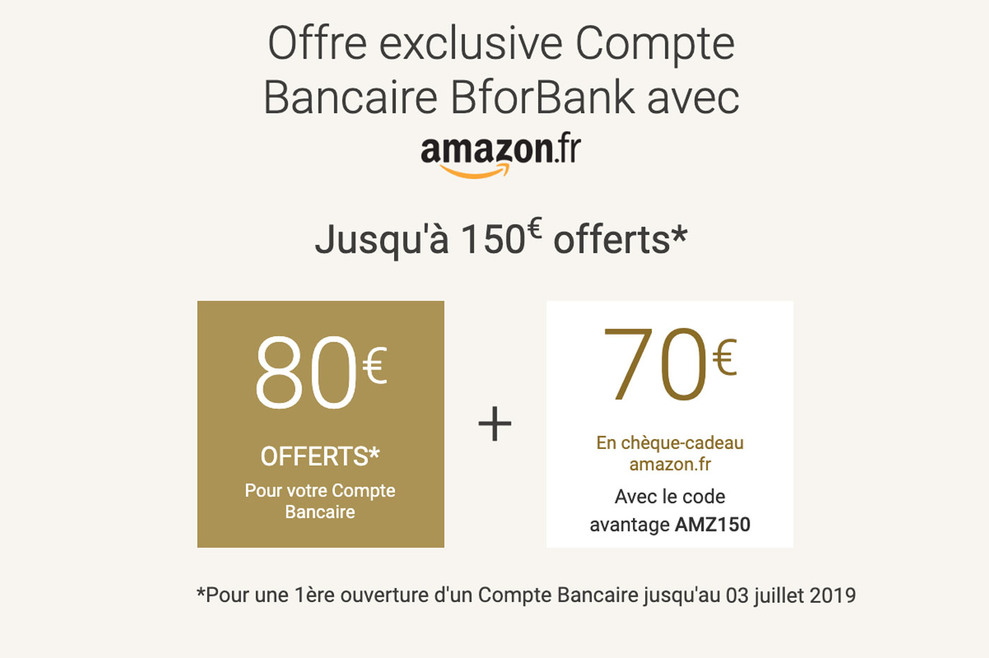8b32727695259 Amazon x BforBank : 150€ de prime à l'ouverture, c'est bientôt fini