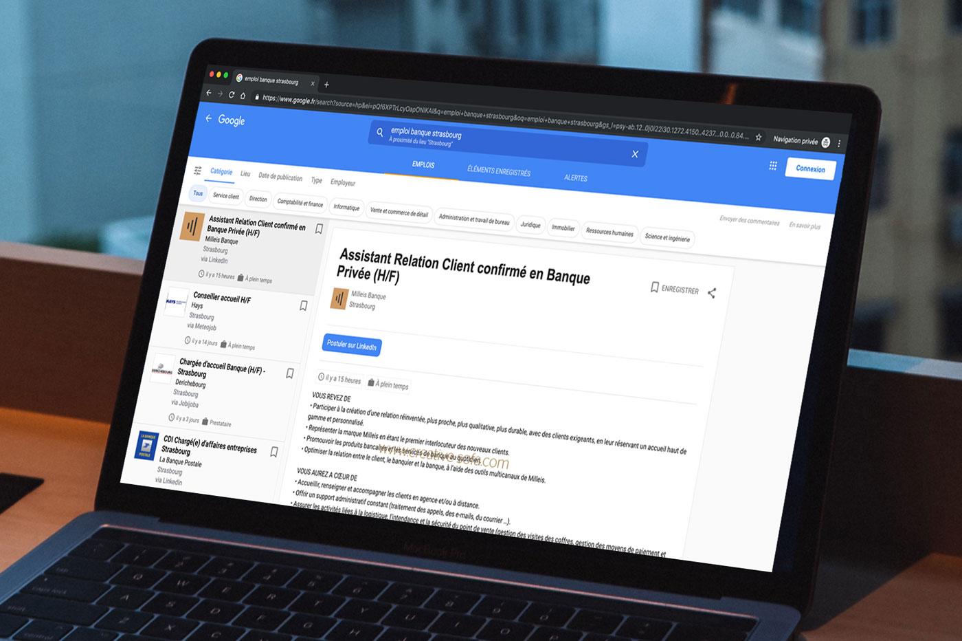 Google lance un nouvel outil pour vous faciliter votre recherche d'emploi
