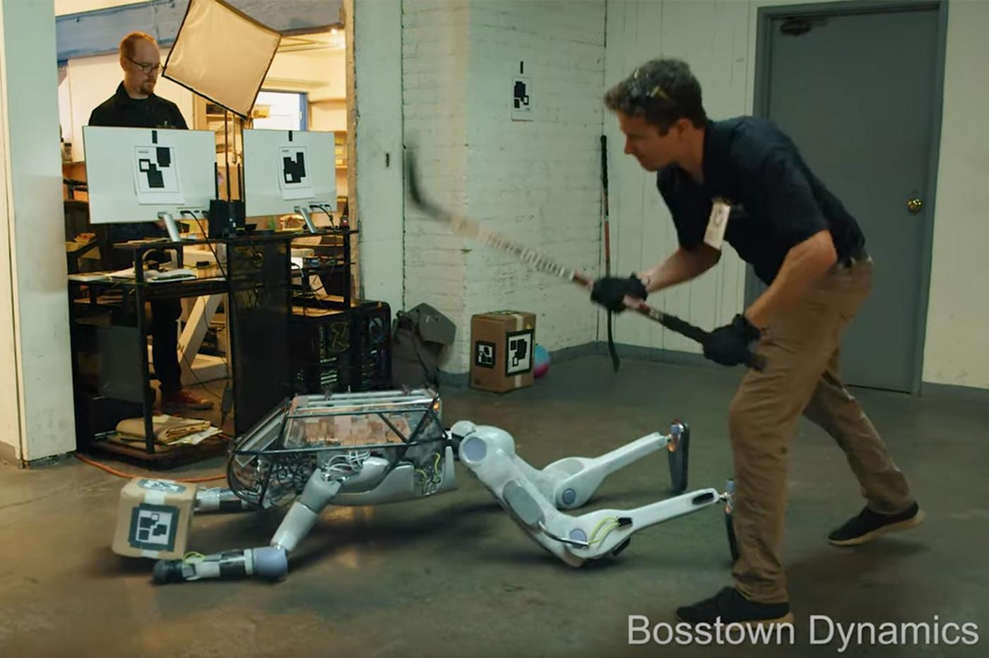 robot Boston Dynamics Corridor