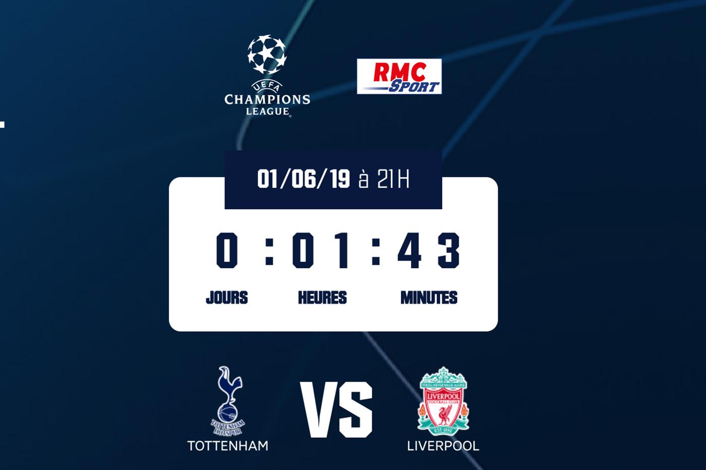 Streaming Tottenham Liverpool finale ldc
