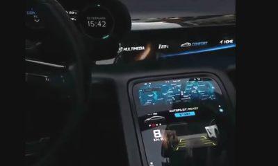 Tableau de bord Porsche Taycan vidéo