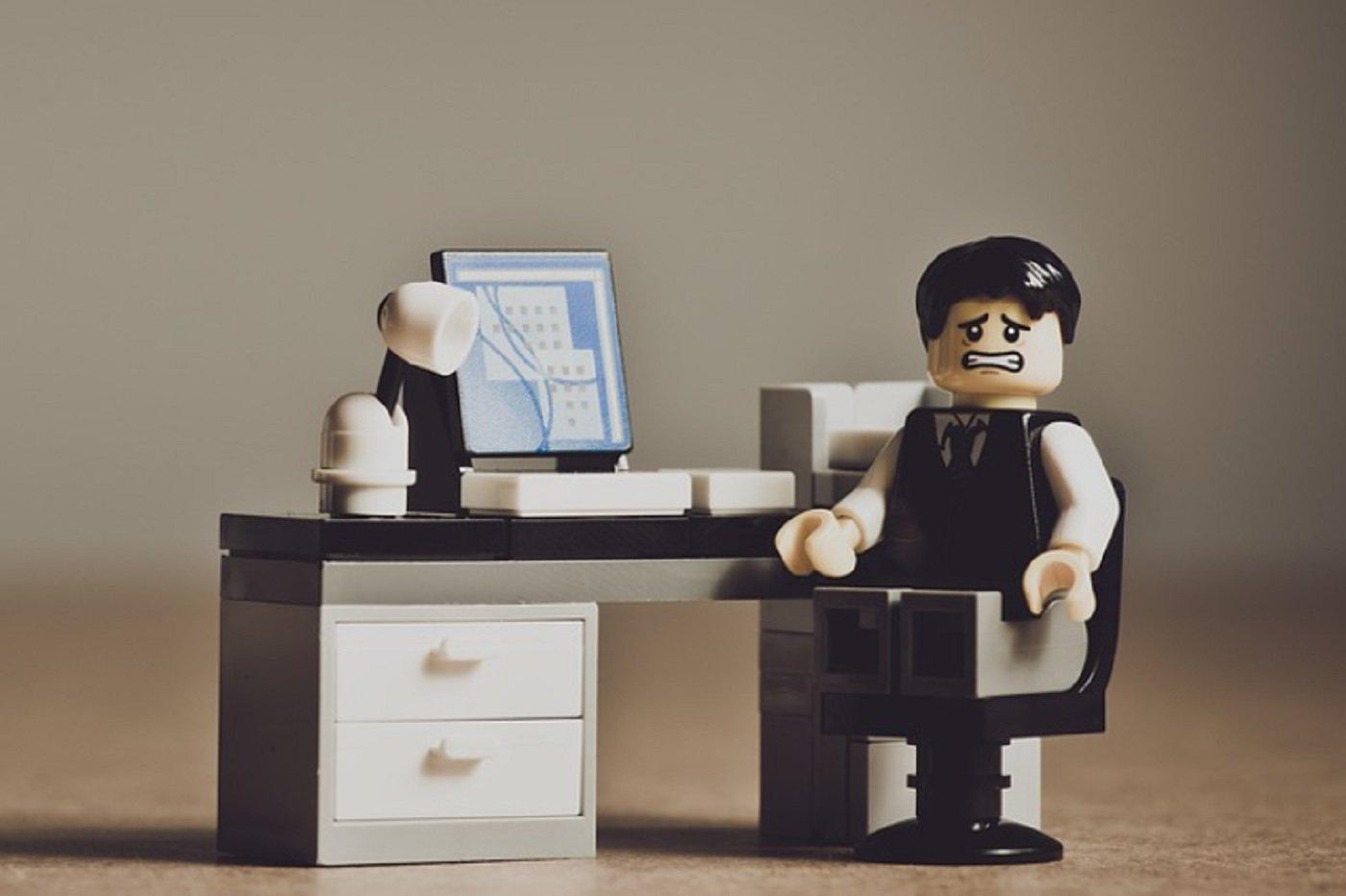 Bureau lego ordinateur travail