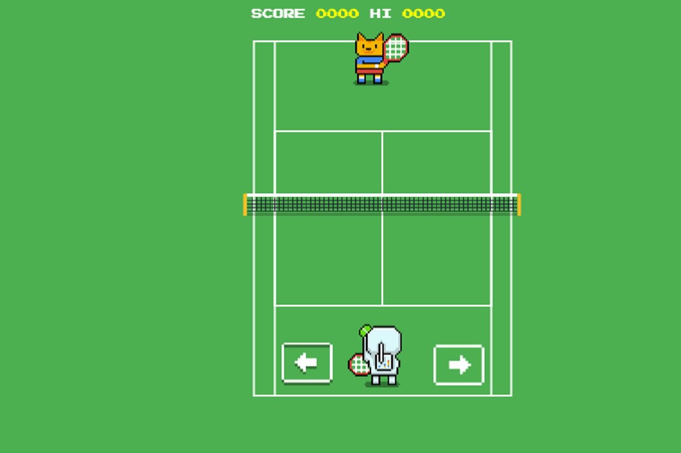 Jeu de tennis sur Google