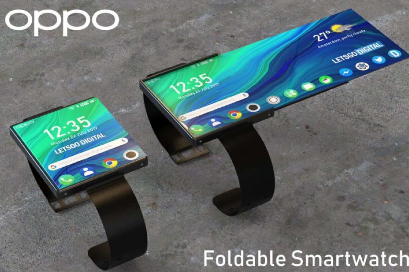 OPPO rêve aussi d'une montre/smartphone avec écran pliable