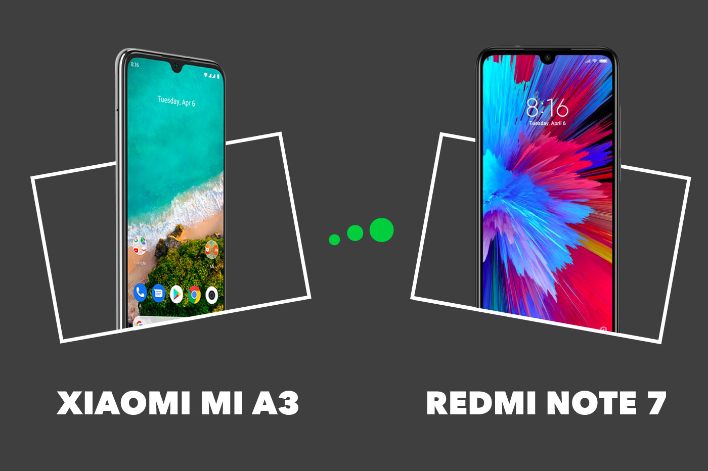 Xiaomi Mi A3 vs Redmi Note7