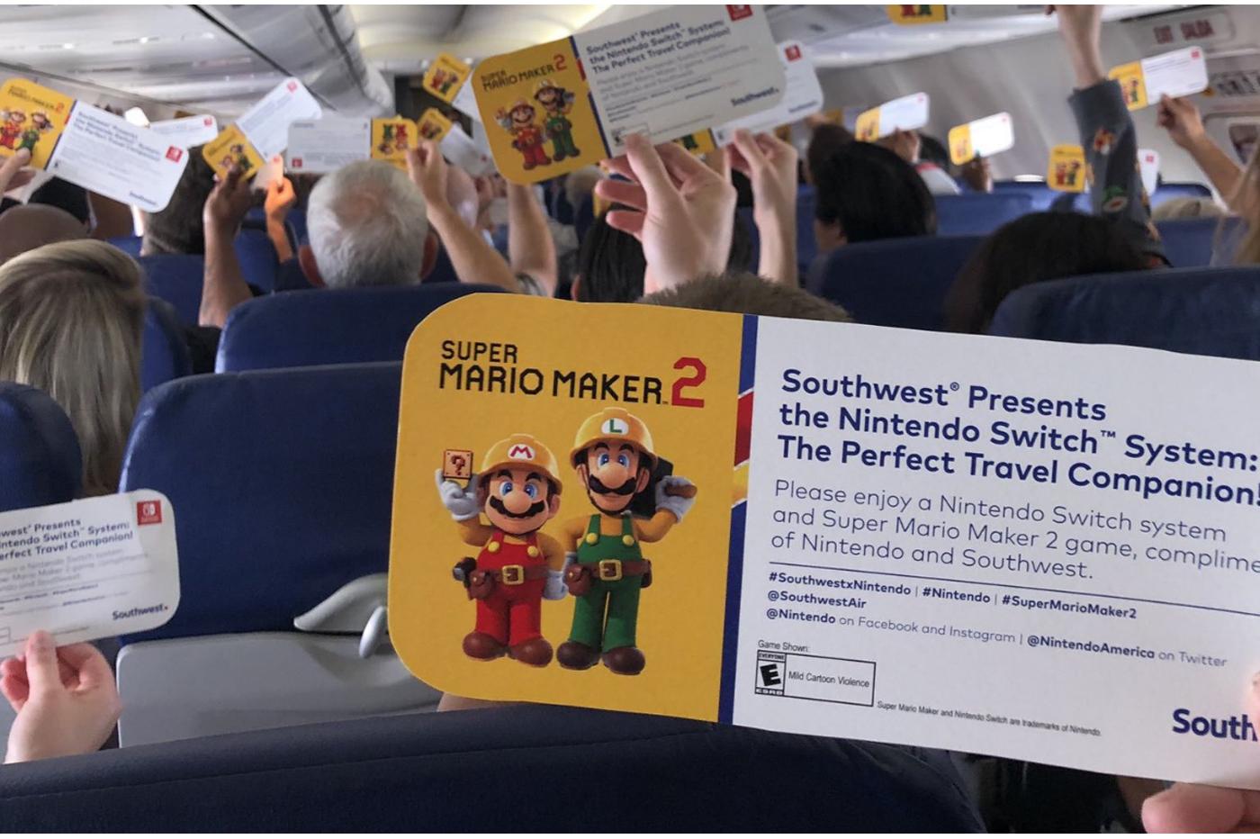 Nintendo offre des Switch aux passagers d'un avion