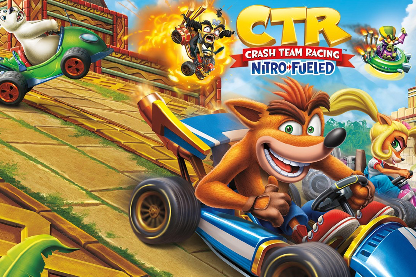 Test CTR Nitro Fueled / Comparatif PS4, One, Switch, et IA