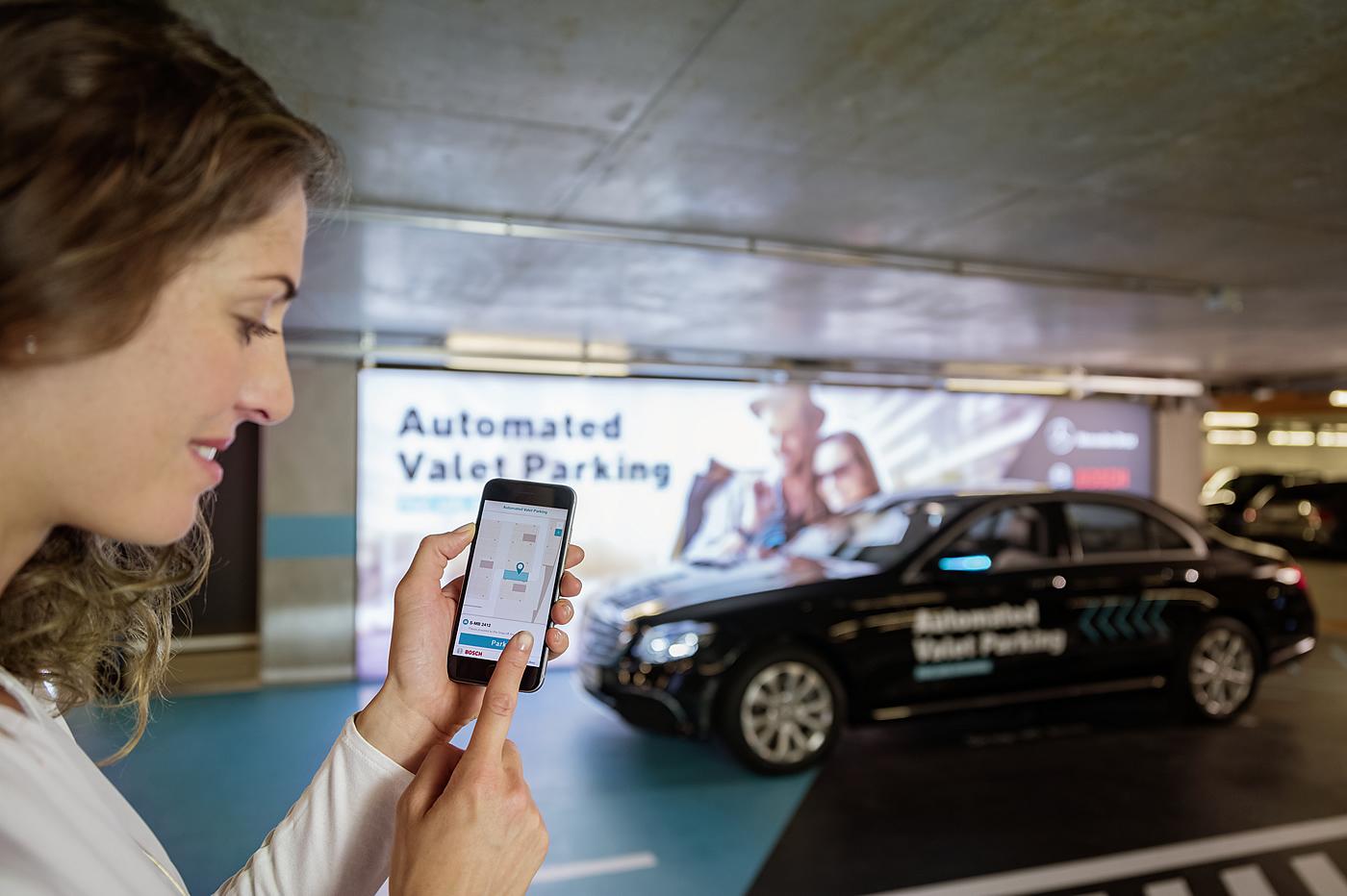 mercedes bosh parking autonome