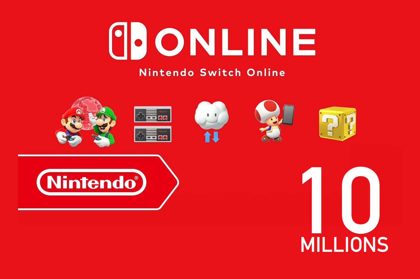 Nintendo Switch Online : 10 Millions utilisateurs
