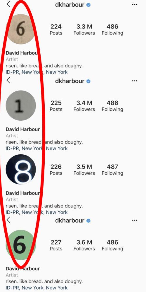 Photo Profil Instagram David Harbour Stranger Things