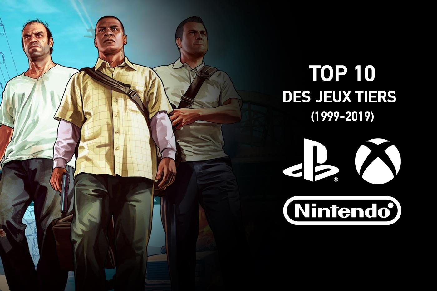 Top 10 ventes Jeux tiers 20 dernières années