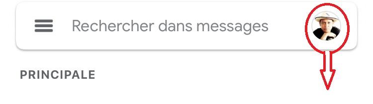 Basculement de compte sur Gmail
