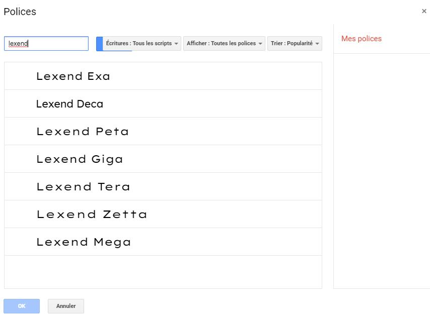 Google-Lexend