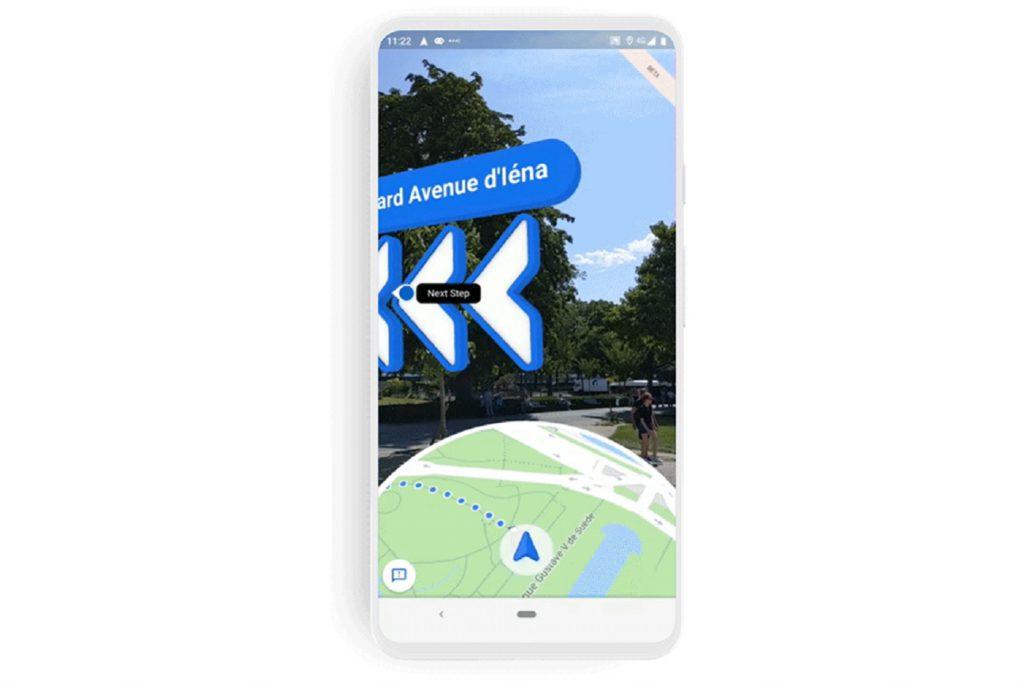 Realite augmentee Google Maps