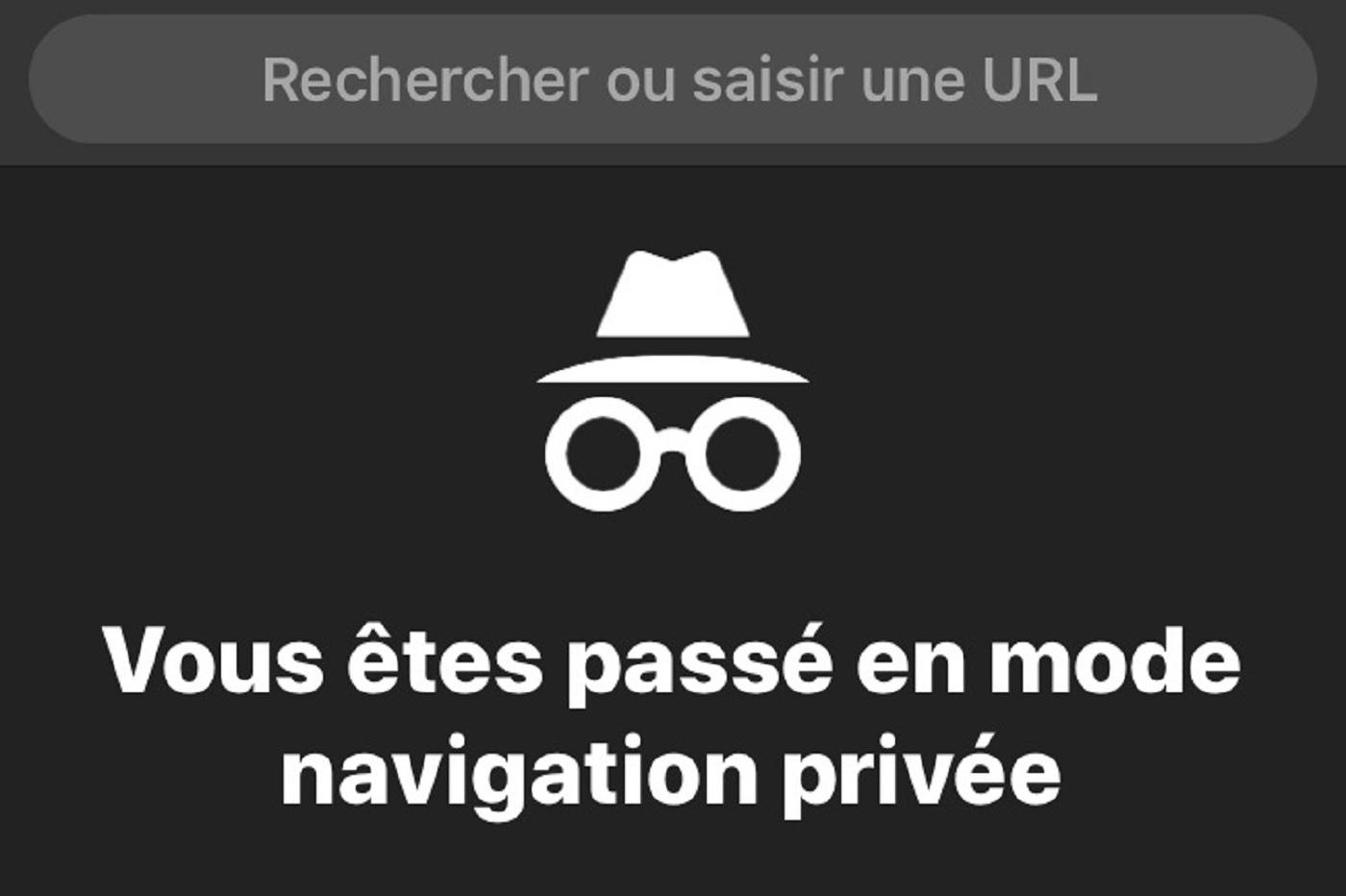 Navigation privée sur Chrome