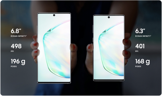 Note 10 et Note 10+
