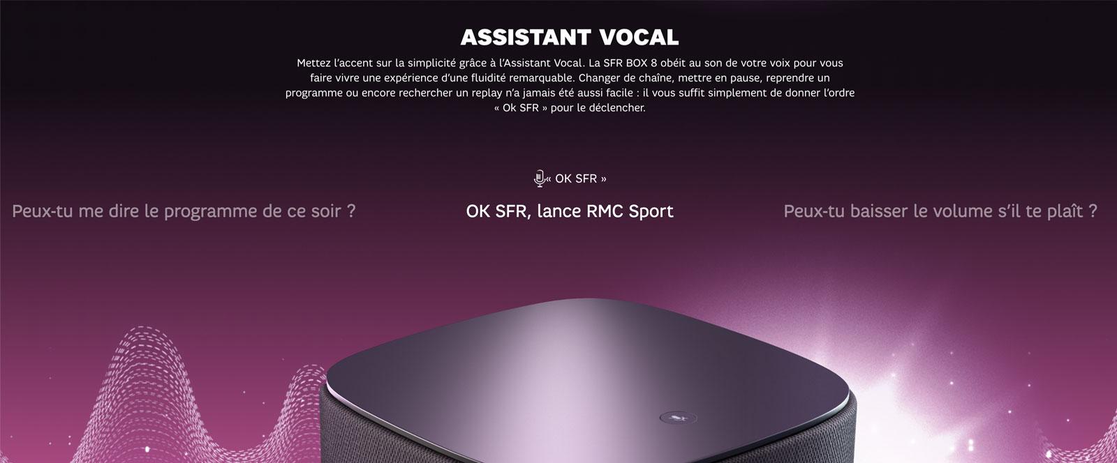 Assistant vocal SFR