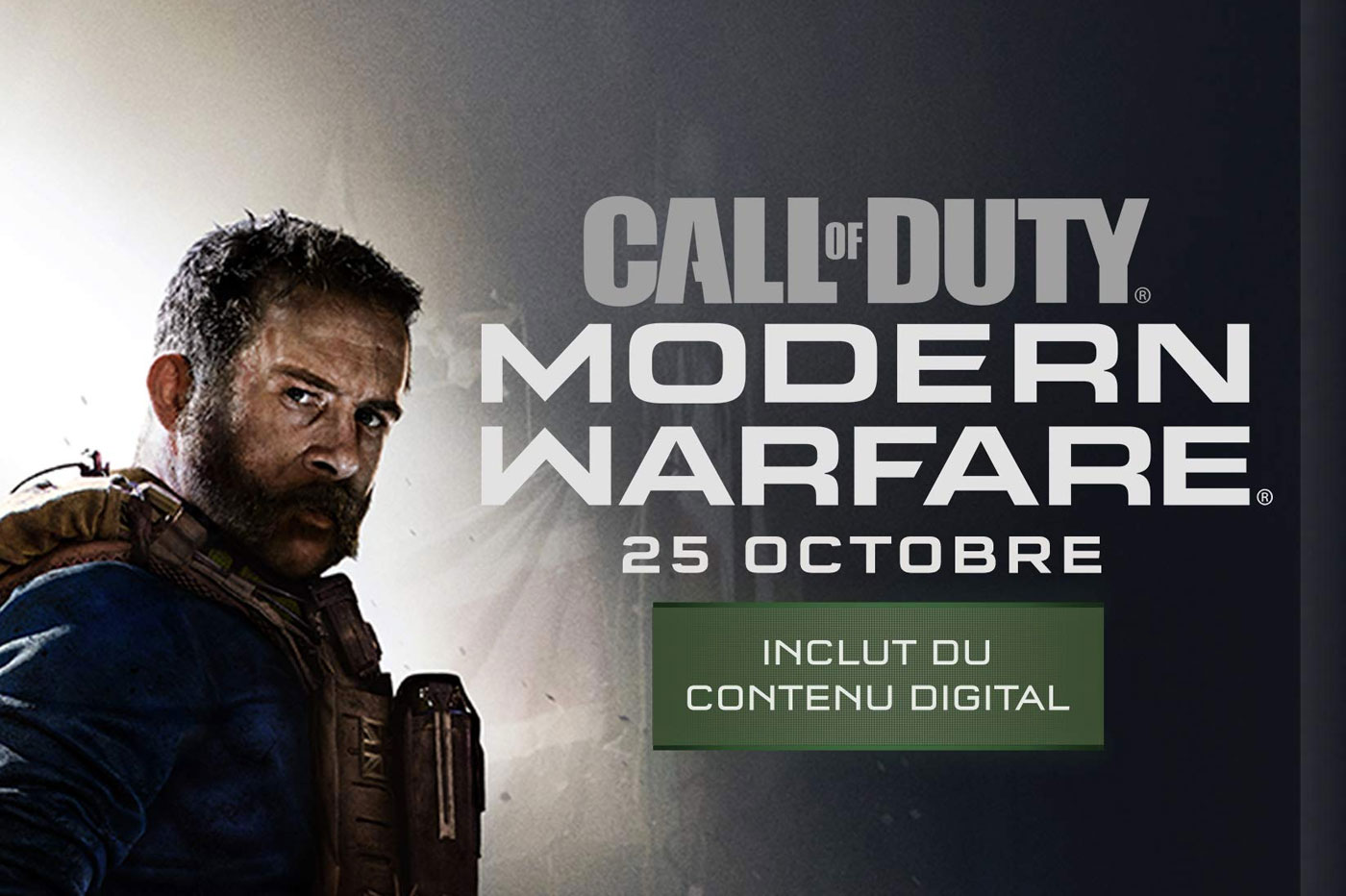 Précommande Call of Duty Modern Warfare
