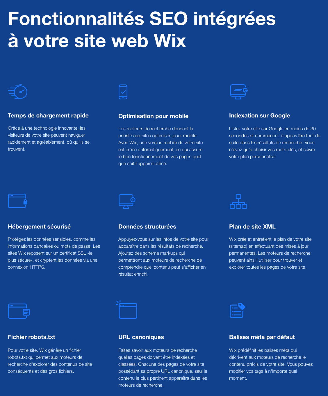 Outils SEO Wix
